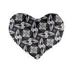 Ornament Pattern Background Standard 16  Premium Heart Shape Cushions Front
