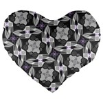 Ornament Pattern Background Large 19  Premium Heart Shape Cushions Front