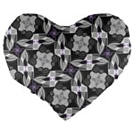 Ornament Pattern Background Large 19  Premium Heart Shape Cushions Back