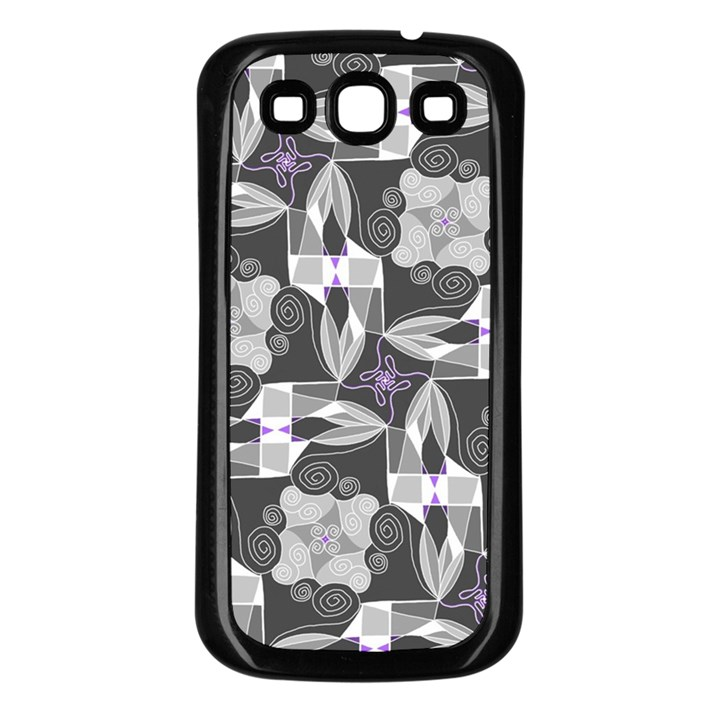 Ornament Pattern Background Samsung Galaxy S3 Back Case (Black)