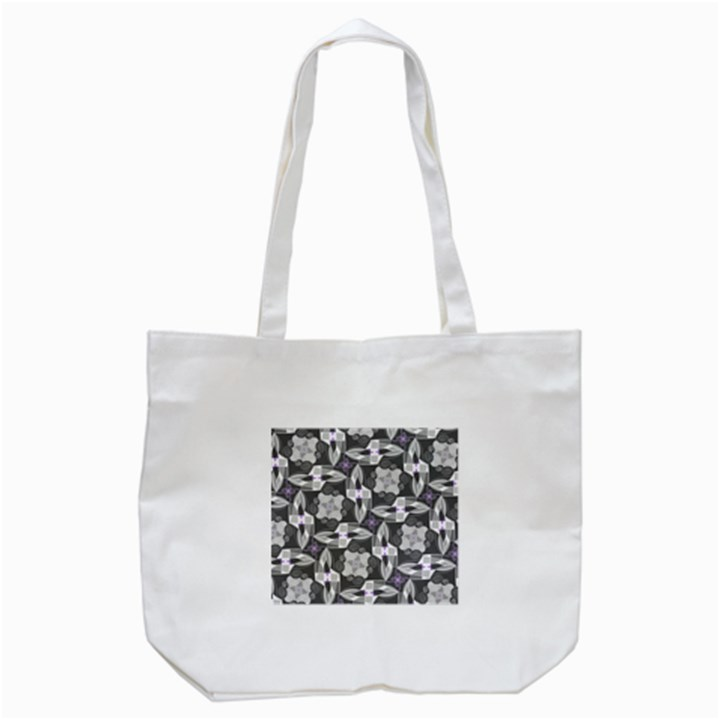 Ornament Pattern Background Tote Bag (White)