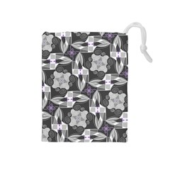 Ornament Pattern Background Drawstring Pouch (medium) by Pakrebo
