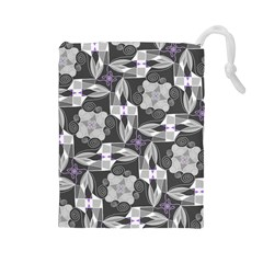 Ornament Pattern Background Drawstring Pouch (large)