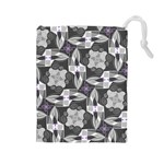 Ornament Pattern Background Drawstring Pouch (Large) Front