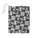 Ornament Pattern Background Drawstring Pouch (Large) Back