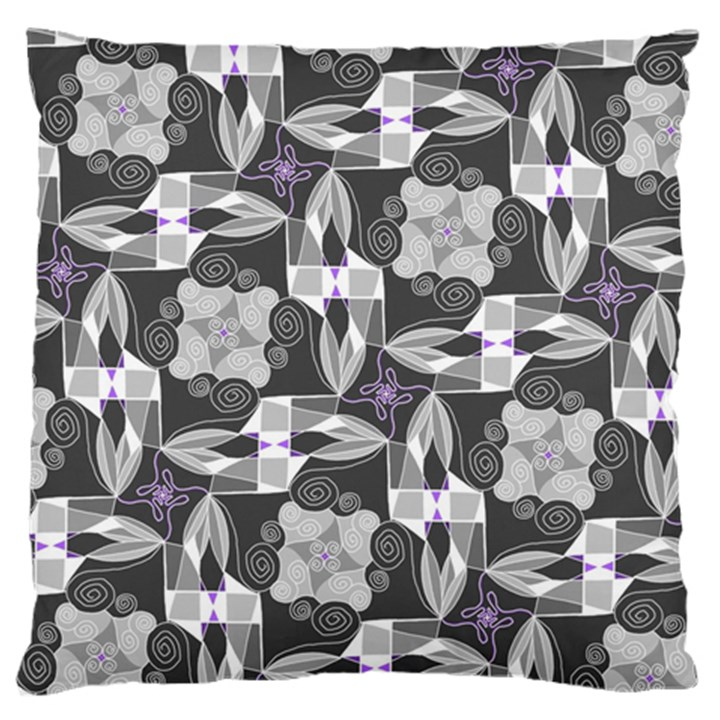 Ornament Pattern Background Large Flano Cushion Case (Two Sides)