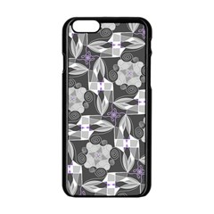Ornament Pattern Background Apple Iphone 6/6s Black Enamel Case