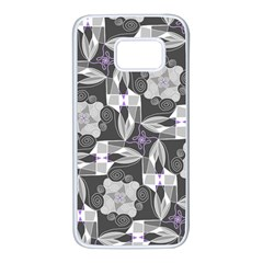 Ornament Pattern Background Samsung Galaxy S7 White Seamless Case
