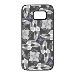 Ornament Pattern Background Samsung Galaxy S7 Edge Black Seamless Case
