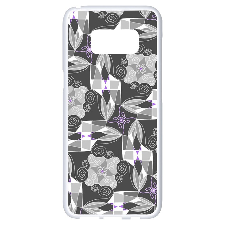 Ornament Pattern Background Samsung Galaxy S8 White Seamless Case