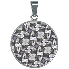Ornament Pattern Background 30mm Round Necklace