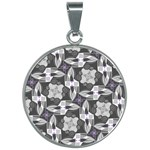 Ornament Pattern Background 30mm Round Necklace Front