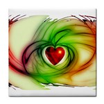 Heart Love Luck Abstract Tile Coasters Front