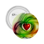 Heart Love Luck Abstract 2.25  Buttons Front