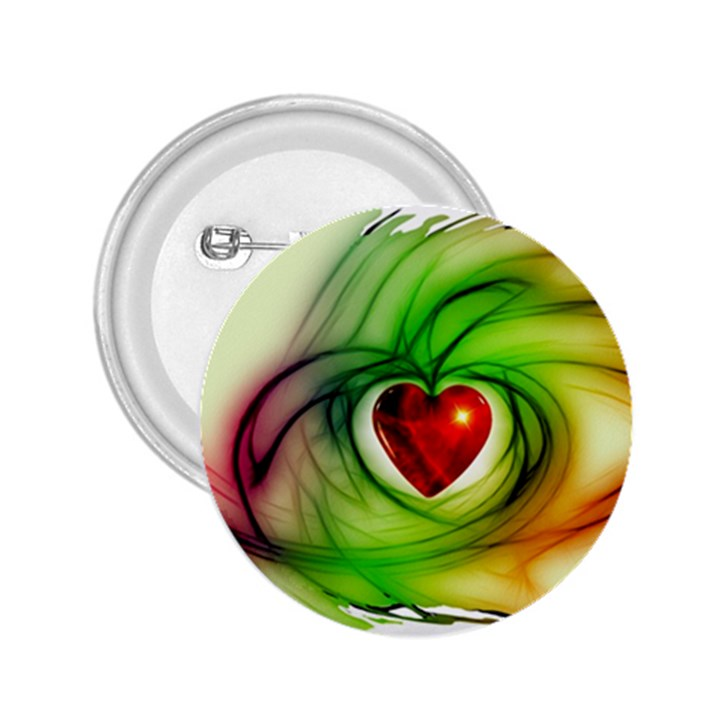 Heart Love Luck Abstract 2.25  Buttons