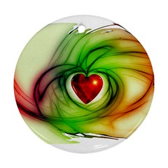 Heart Love Luck Abstract Ornament (round) by Pakrebo
