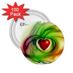 Heart Love Luck Abstract 2.25  Buttons (100 pack)  Front
