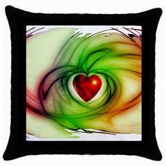 Heart Love Luck Abstract Throw Pillow Case (black)