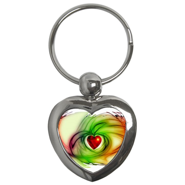 Heart Love Luck Abstract Key Chains (Heart)