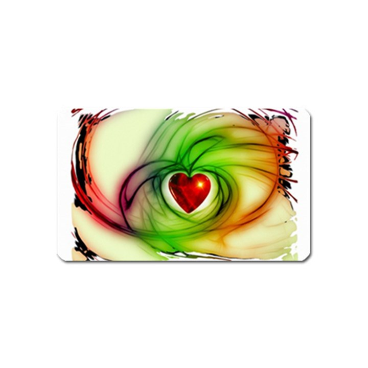 Heart Love Luck Abstract Magnet (Name Card)