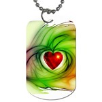 Heart Love Luck Abstract Dog Tag (One Side) Front