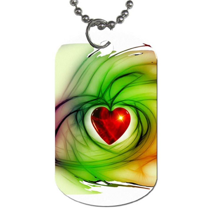 Heart Love Luck Abstract Dog Tag (One Side)