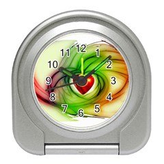 Heart Love Luck Abstract Travel Alarm Clock