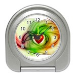 Heart Love Luck Abstract Travel Alarm Clock Front