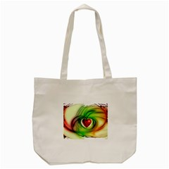Heart Love Luck Abstract Tote Bag (cream) by Pakrebo