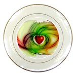 Heart Love Luck Abstract Porcelain Plates Front
