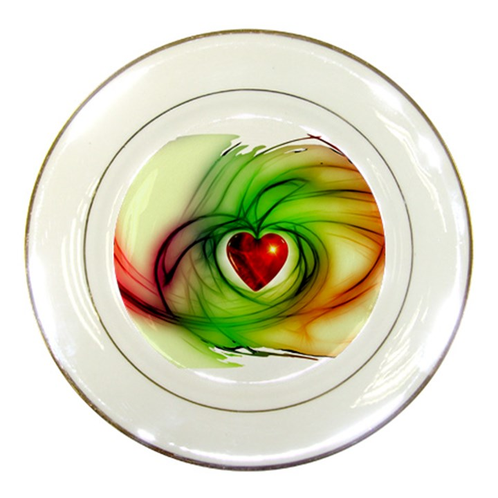Heart Love Luck Abstract Porcelain Plates