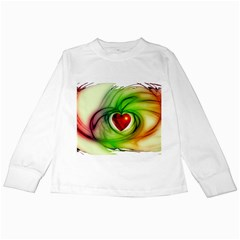 Heart Love Luck Abstract Kids Long Sleeve T Shirts by Pakrebo