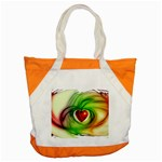 Heart Love Luck Abstract Accent Tote Bag Front