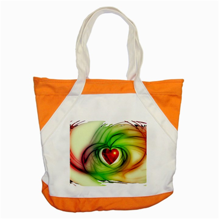 Heart Love Luck Abstract Accent Tote Bag