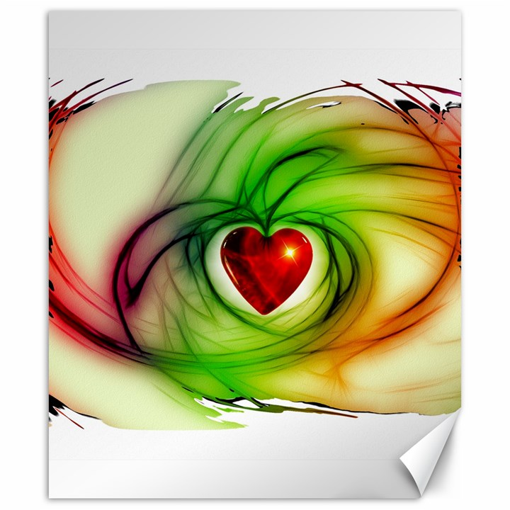 Heart Love Luck Abstract Canvas 20  x 24