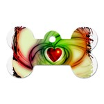 Heart Love Luck Abstract Dog Tag Bone (One Side) Front