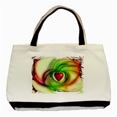 Heart Love Luck Abstract Basic Tote Bag (two Sides)