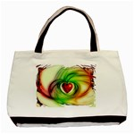 Heart Love Luck Abstract Basic Tote Bag (Two Sides) Back