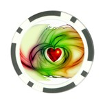 Heart Love Luck Abstract Poker Chip Card Guard Front