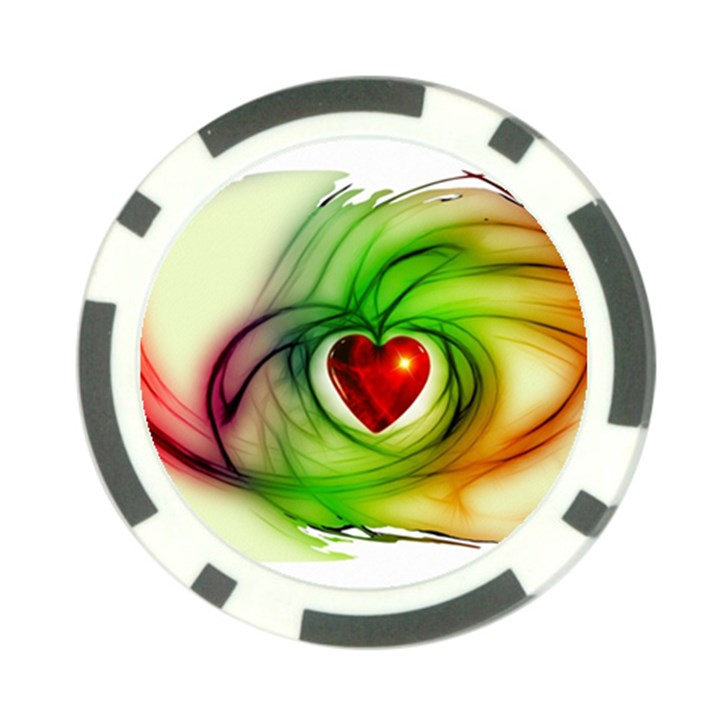 Heart Love Luck Abstract Poker Chip Card Guard