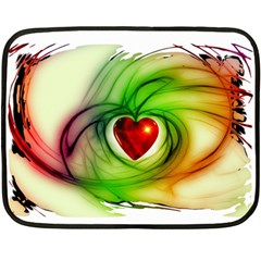 Heart Love Luck Abstract Fleece Blanket (mini) by Pakrebo