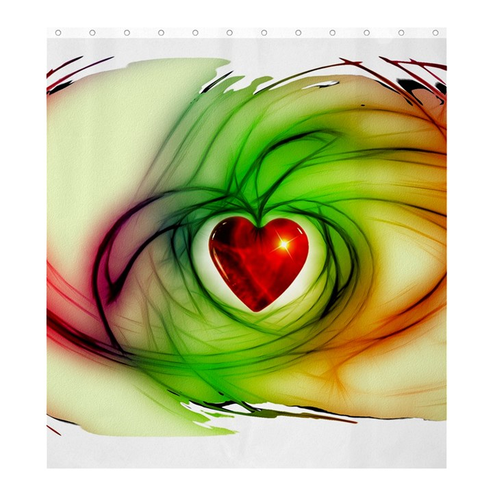 Heart Love Luck Abstract Shower Curtain 66  x 72  (Large)