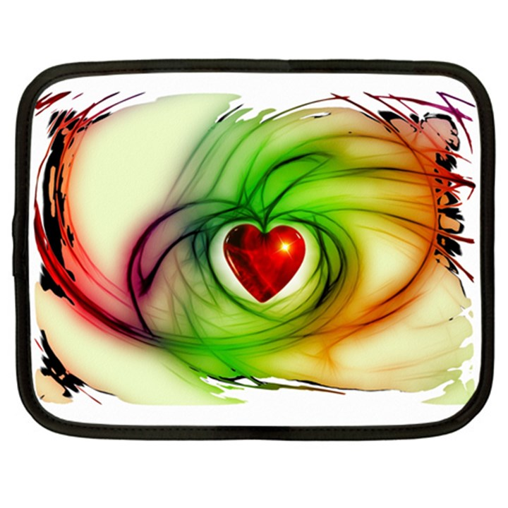 Heart Love Luck Abstract Netbook Case (XL)