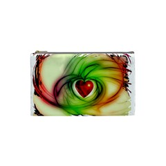 Heart Love Luck Abstract Cosmetic Bag (small)