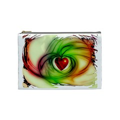 Heart Love Luck Abstract Cosmetic Bag (medium)