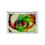 Heart Love Luck Abstract Cosmetic Bag (Medium) Back