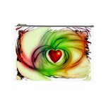Heart Love Luck Abstract Cosmetic Bag (Large) Front