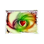 Heart Love Luck Abstract Cosmetic Bag (Large) Back