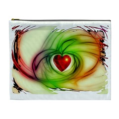 Heart Love Luck Abstract Cosmetic Bag (xl) by Pakrebo