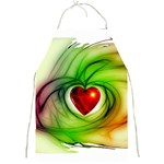 Heart Love Luck Abstract Full Print Aprons Front